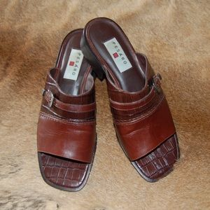 Shoes - Pesaro Brown Leather Shoes